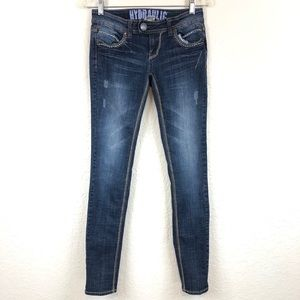 Hydraulic Medium Wash Low Rise Distressed Jeans 5